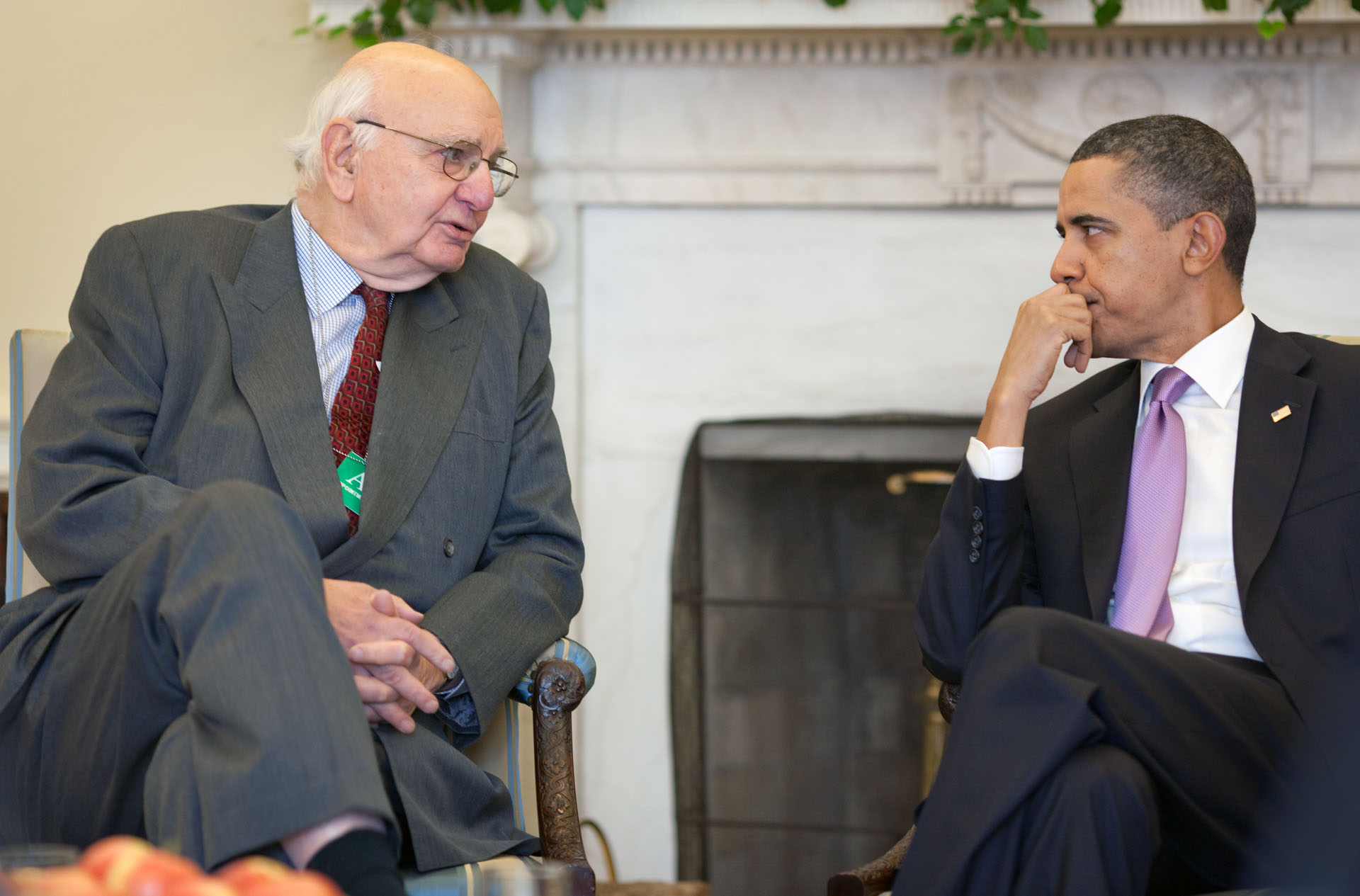 The President Meets with Paul Volcker Before Announcing