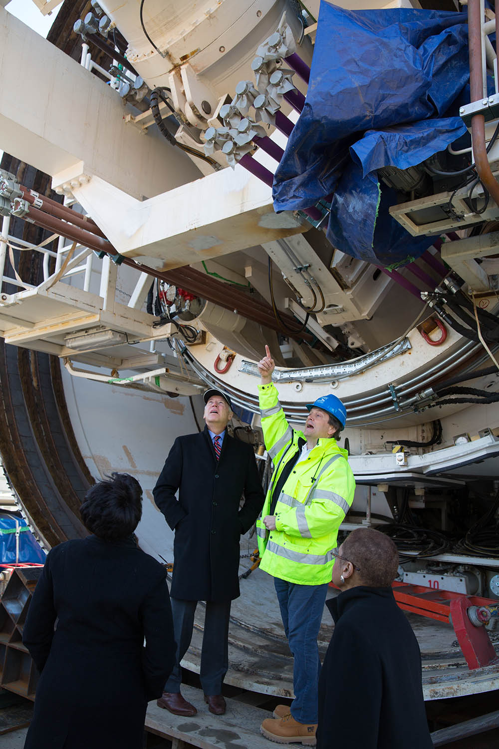 Vice President Joe Biden tours the Anacostia Tunnel Project