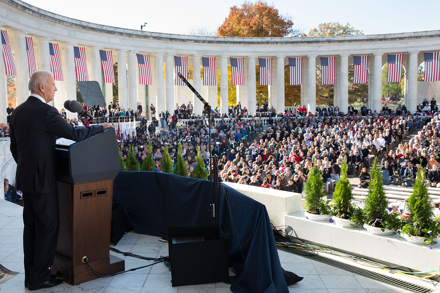 Vice President Joe Biden Speaks at Arlington National Cemetery