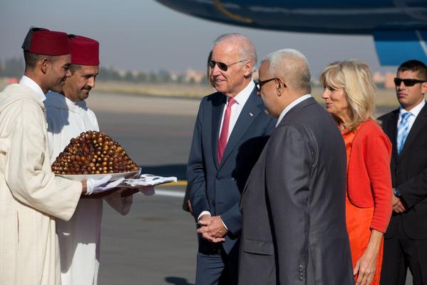 Vice President Obama Receives Dates in Morocco