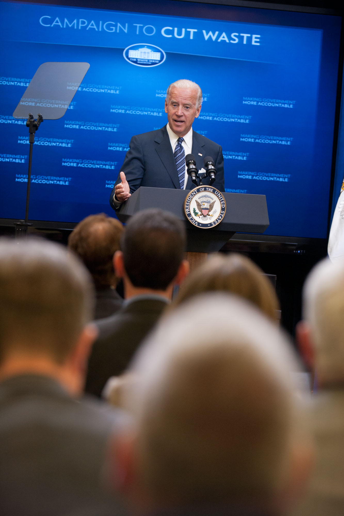 Vice President Biden Announces the Campaign to Cut Waste