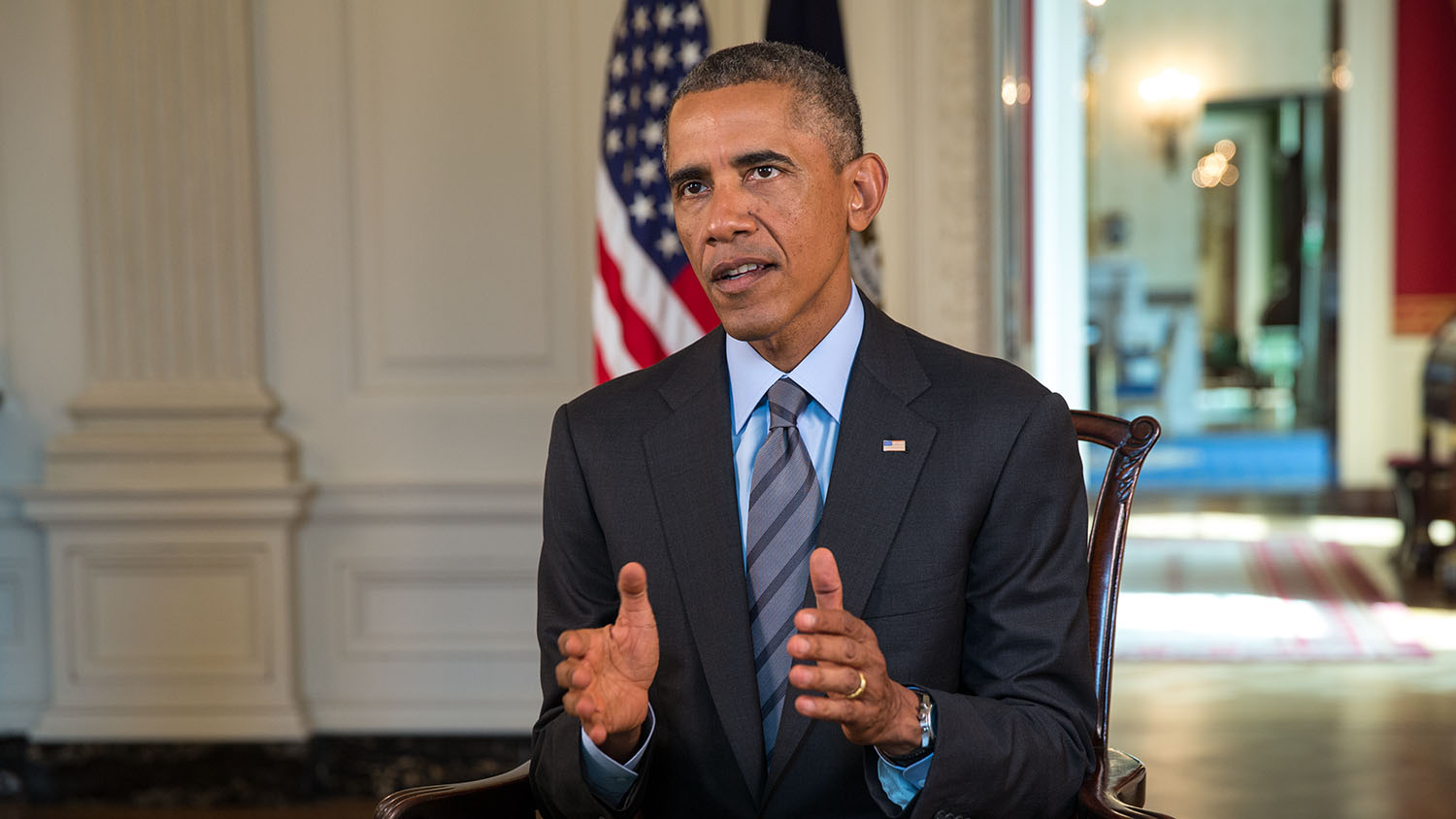 President Obama tapes the Weekly Address on ISIL