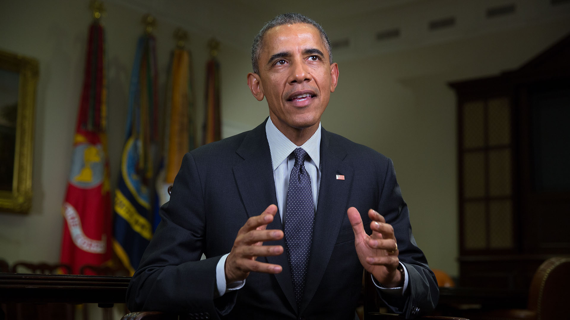 President Obama Tapes the Weekly Address on January 30