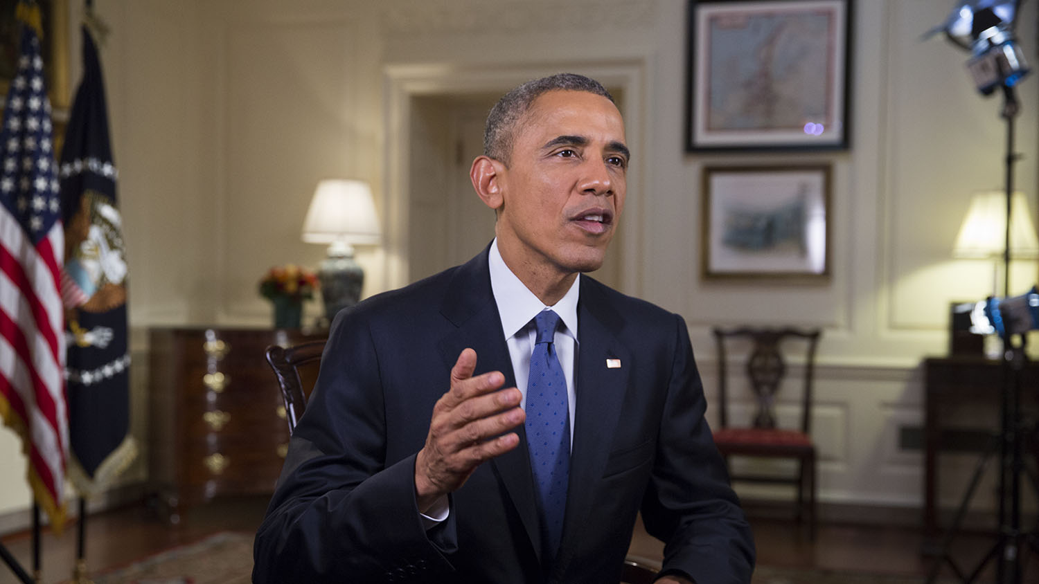 President Obama tapes the Weekly Address on Loretta Lynch