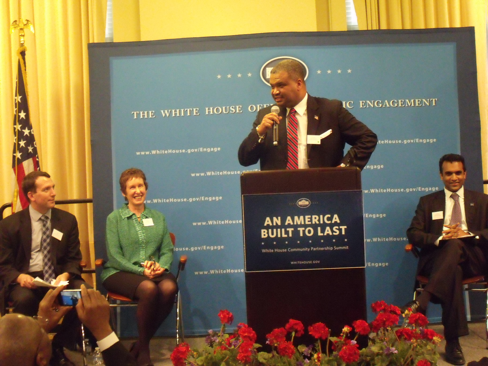 Ed Jennings, Jr. at White House Community Partnership Summit in Atlanta
