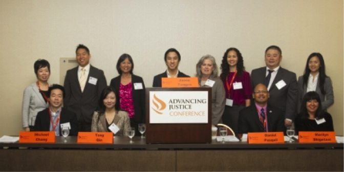 Members of WHIAAPI's Regional Interagency Working Group host a workshop on demystifying the federal government at the Advancing Justice Conference in Los Angeles, CA, Nov. 16, 2013.