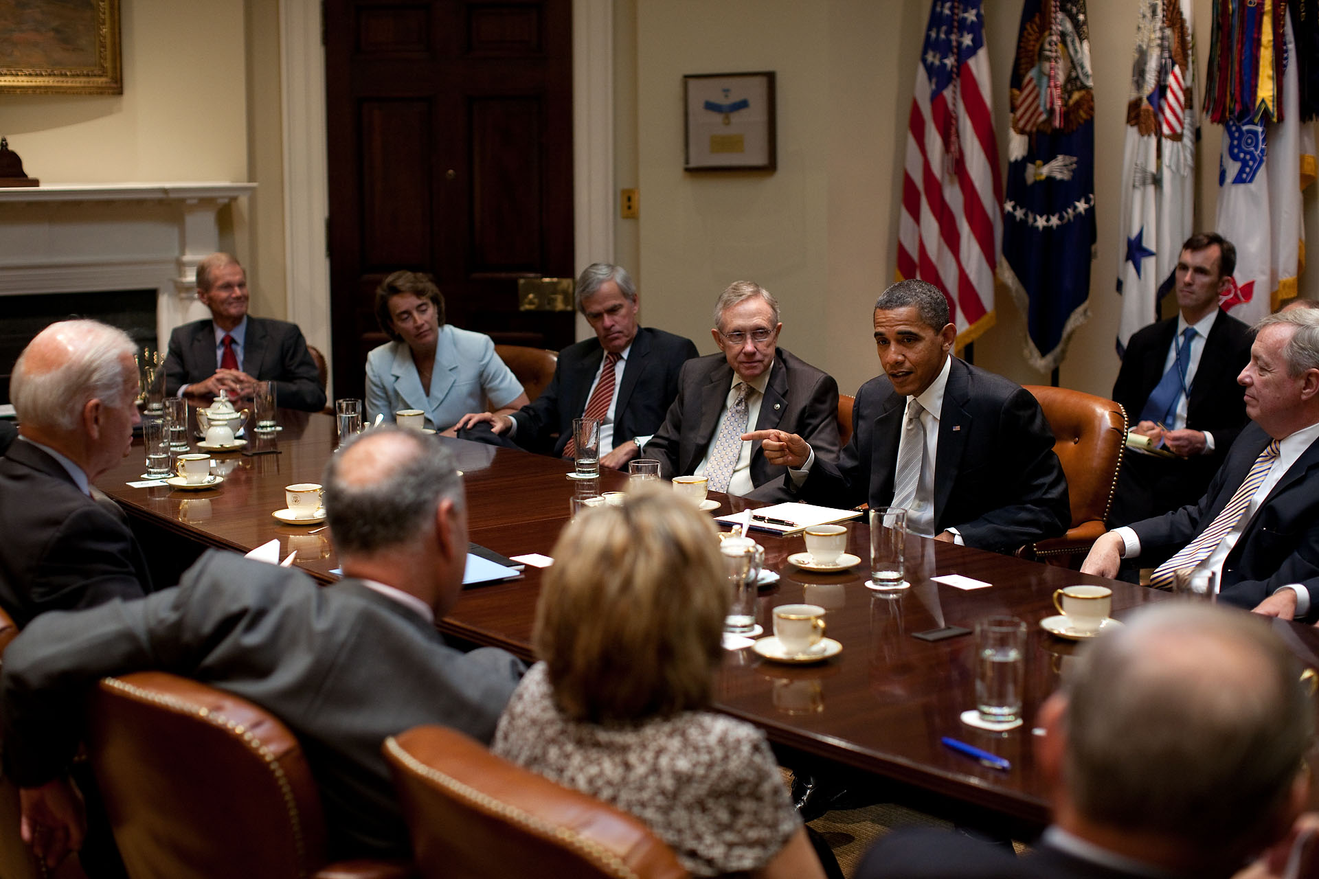 President Barack Obama and Vice President Joe Biden Meet with the Senate Democratic Leadership Team