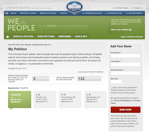 We the People: Simplified Screenshot