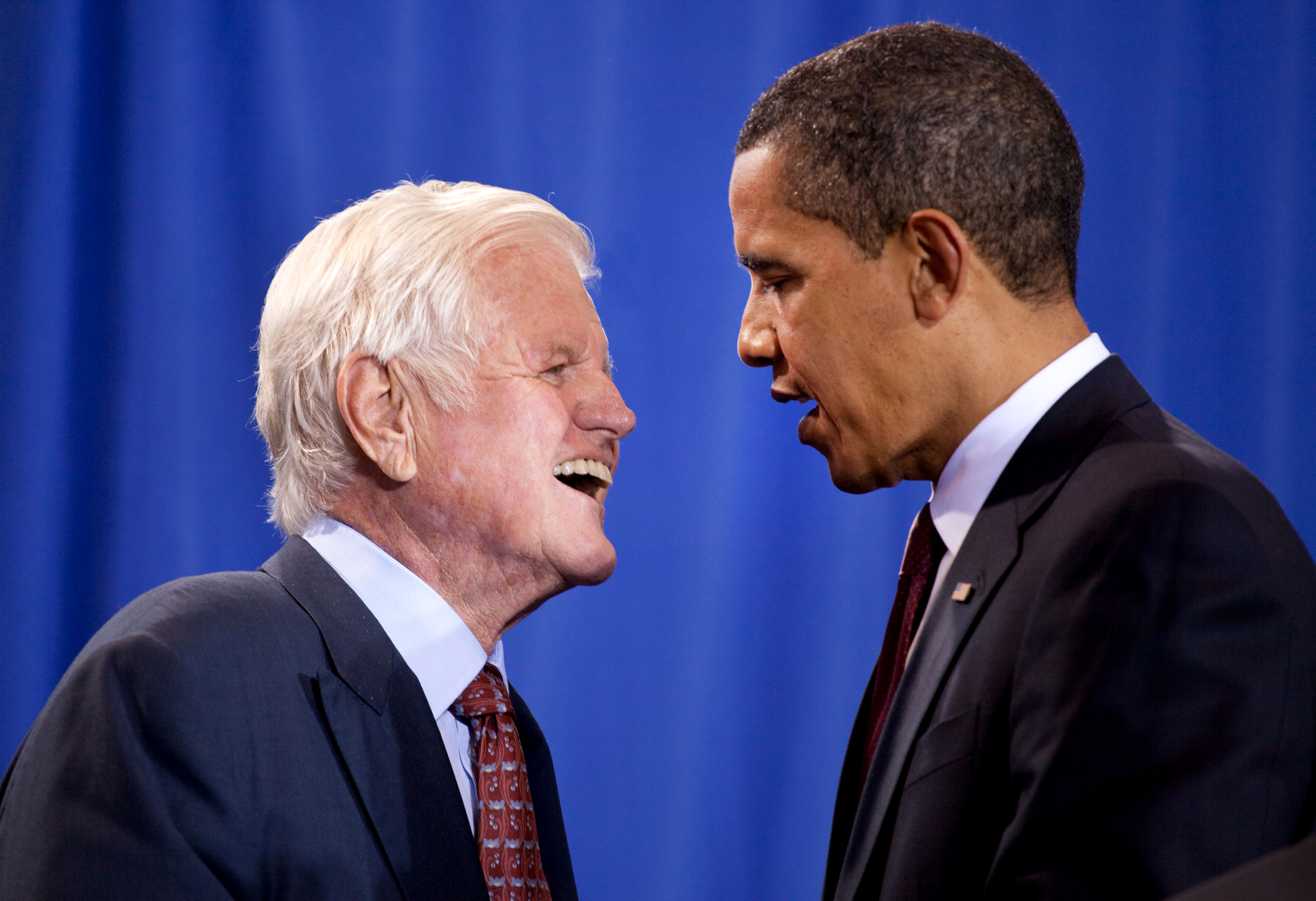 Senator Edward Kennedy with President Barack Obama 4-21-09