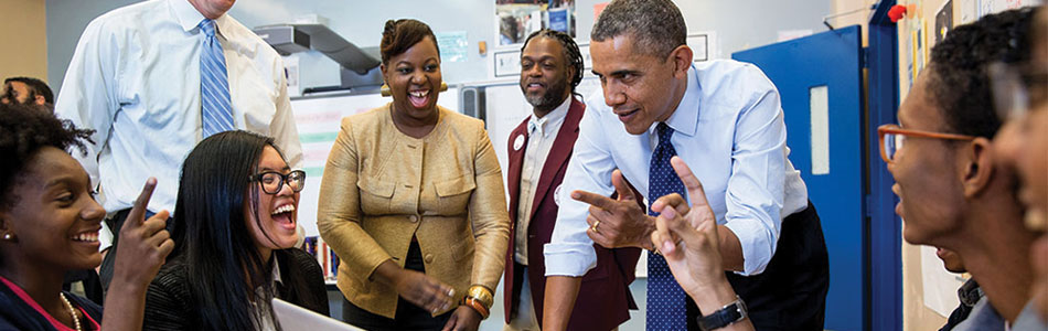 Image result for photos of obama working with others