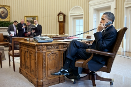 President Obama Talks on Phone with Secretary Napolitano and FEMA Administrator Fugate