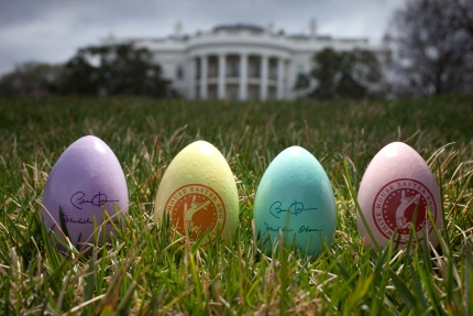 Eggs for the 2011 Easter Egg Roll photographed on the South Lawn of the White House