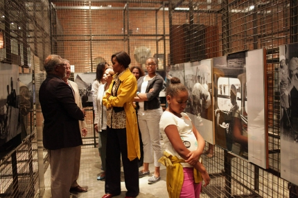First Lady, Sasha, and Malia Tour Apartheid Museum, South Africa
