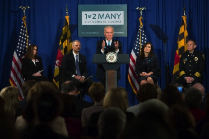 Vice President Joe Biden delivers remarks at a Domestic Violence Homicide Reduction Event
