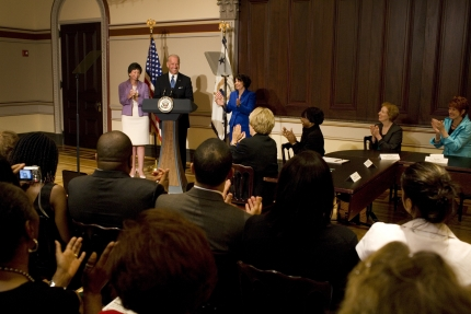 Vice President Joe Biden and Valerie Jarrett announce Lynn Rosenthal