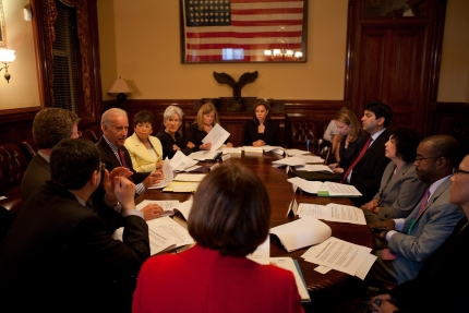 Vice President Joe Biden holds a Cabinet-level meeting on the Administration's efforts
