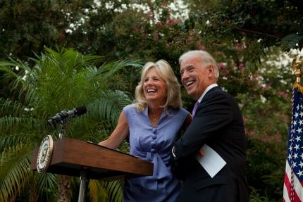 Vice President Joe Biden and Dr. Jill Biden attend a reception honoring the 16th anniversary
