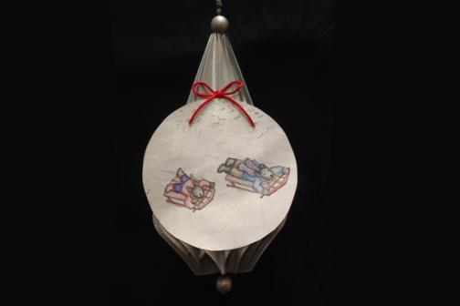 Bo-Tales Sledding Ornament