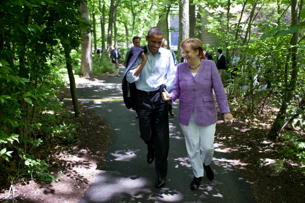 President Obama Talks With Chancellor Merkel
