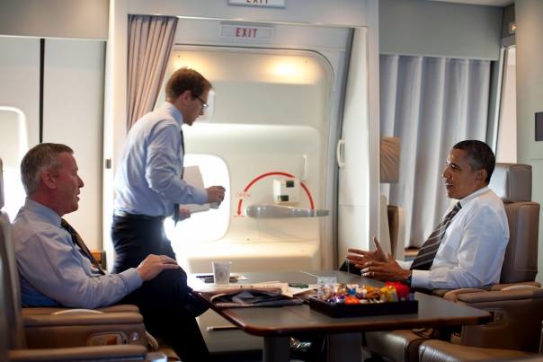 President Obama with Orlando Mayor Buddy Dyer Aboard Air Force One