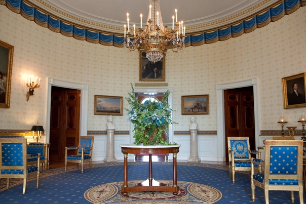 The Blue Room Of The White House, Oct. 8, 2009. (Official WH Photo By  Samantha Appleton)