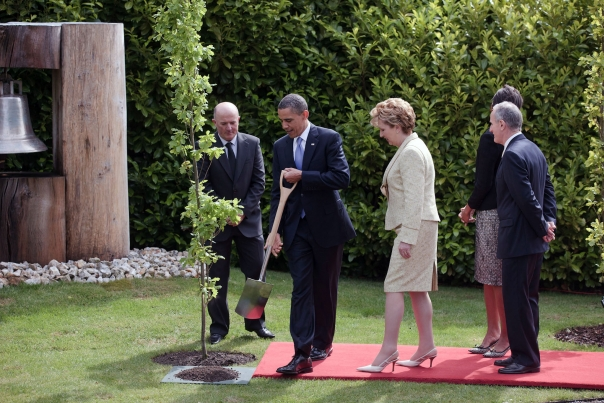 President Barack Obama Plants a Tree