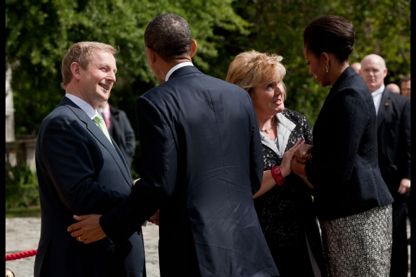 President Obama is Welcomed by Taoiseach Enda Kenny