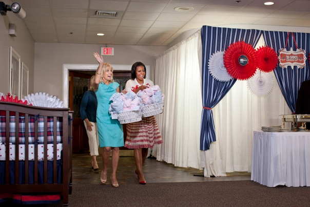 First Lady Michelle Obama and Dr. Jill Biden Attend an Operation Shower Baby Shower