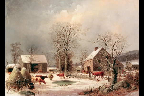 Farmyard In Winter