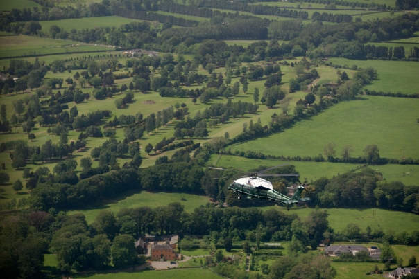 Marine One Flies Over the Irish Countryside