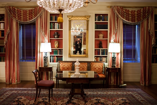 White house library room design