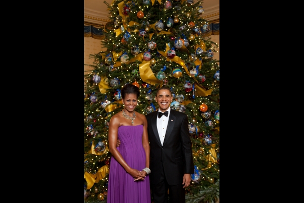 Christmas First Family: Obama 2009 tree