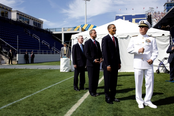 President Obama and Governor O'Malley at Naval Academy