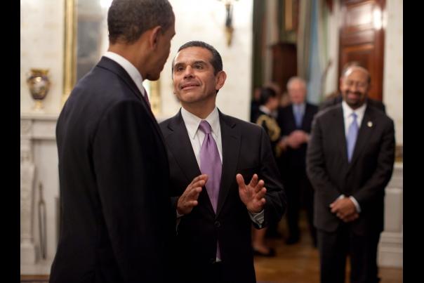 President speaks to Villaraigosa
