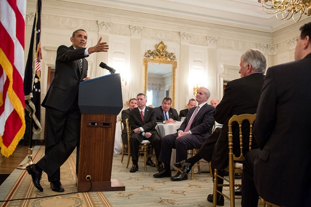 President Barack Obama has a meeting with the National Governors Association in the White House, Feb. 25, 2013