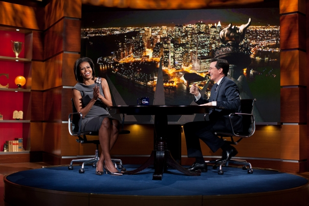 The First Lady On The Colbert Report