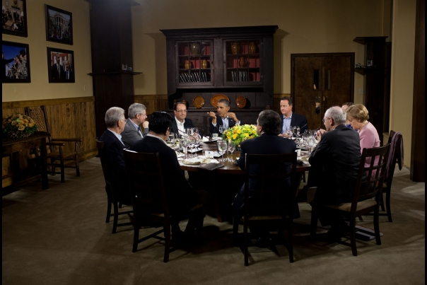President Barack Obama Hosts A Working Dinner