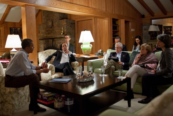 President Obama Meets With Leaders At Aspen Cabin