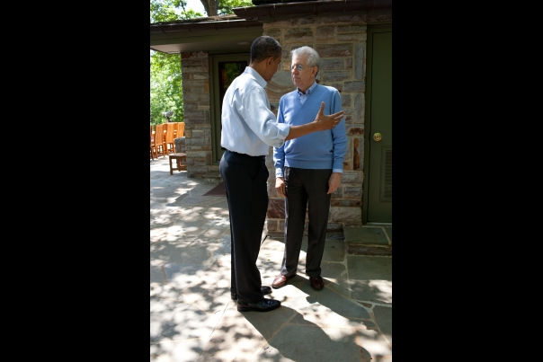 President Obama Talks With Prime Minister Monti