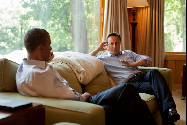President Obama Talks With Prime Minister Cameron