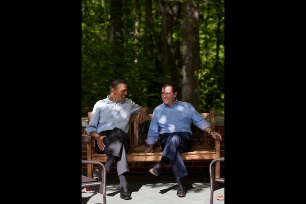 President Obama Talks With Prime Minister Medvedev