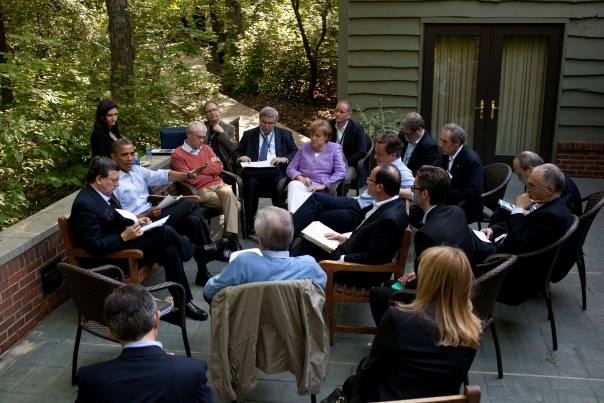 President Obama Meets With Eurozone Leaders