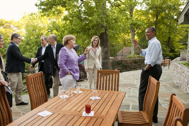 President Obama And Chancellor Merkel Conclude Their Bilat
