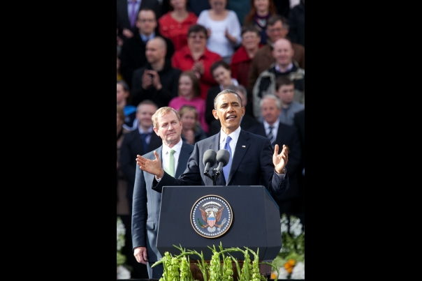 President Obama Delivers Remarks at College Green in Dublin