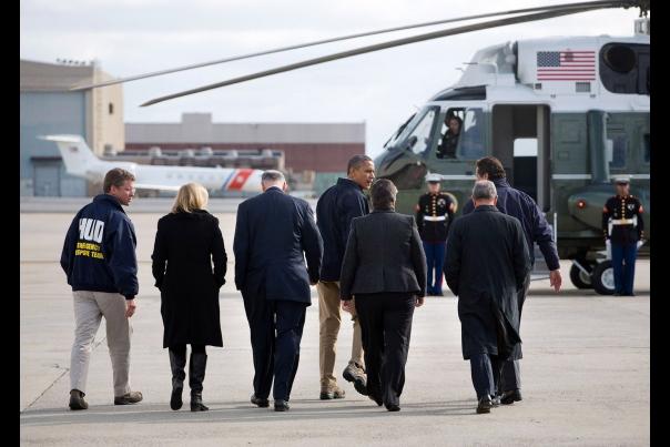 President Obama Prepares to Board Marine One