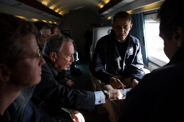 President Obama Aerial Tour of Hurricane Sandy Storm Damage
