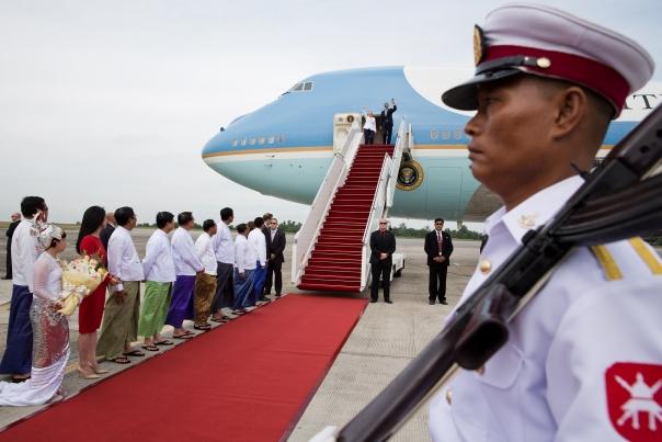 President Obama Arrives In Burma