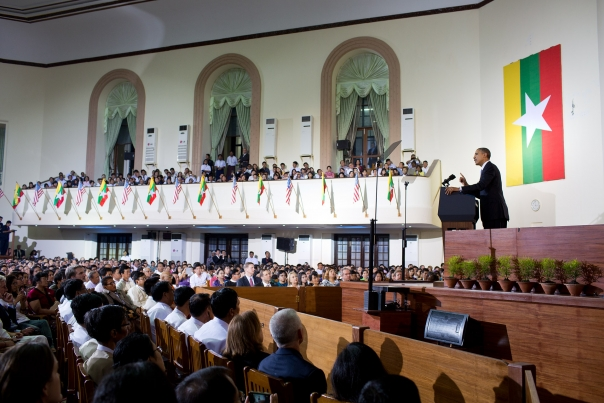 President Obama Addresses The Burmese Public
