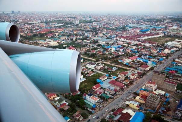 Approaching Phnom Penh