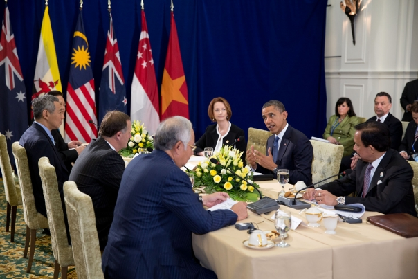 President Obama Attends The TPP Meeting